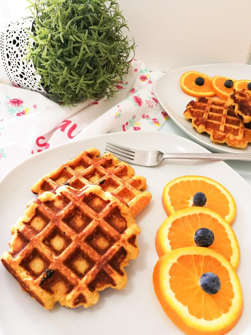 Receita de Waffles de coco e laranja na Yammi2