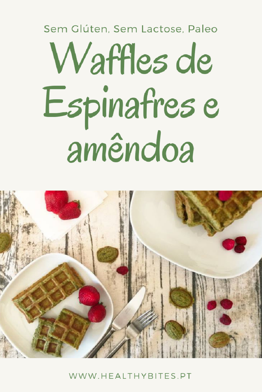 Receita de Waffles de Espinafres e amêndoa