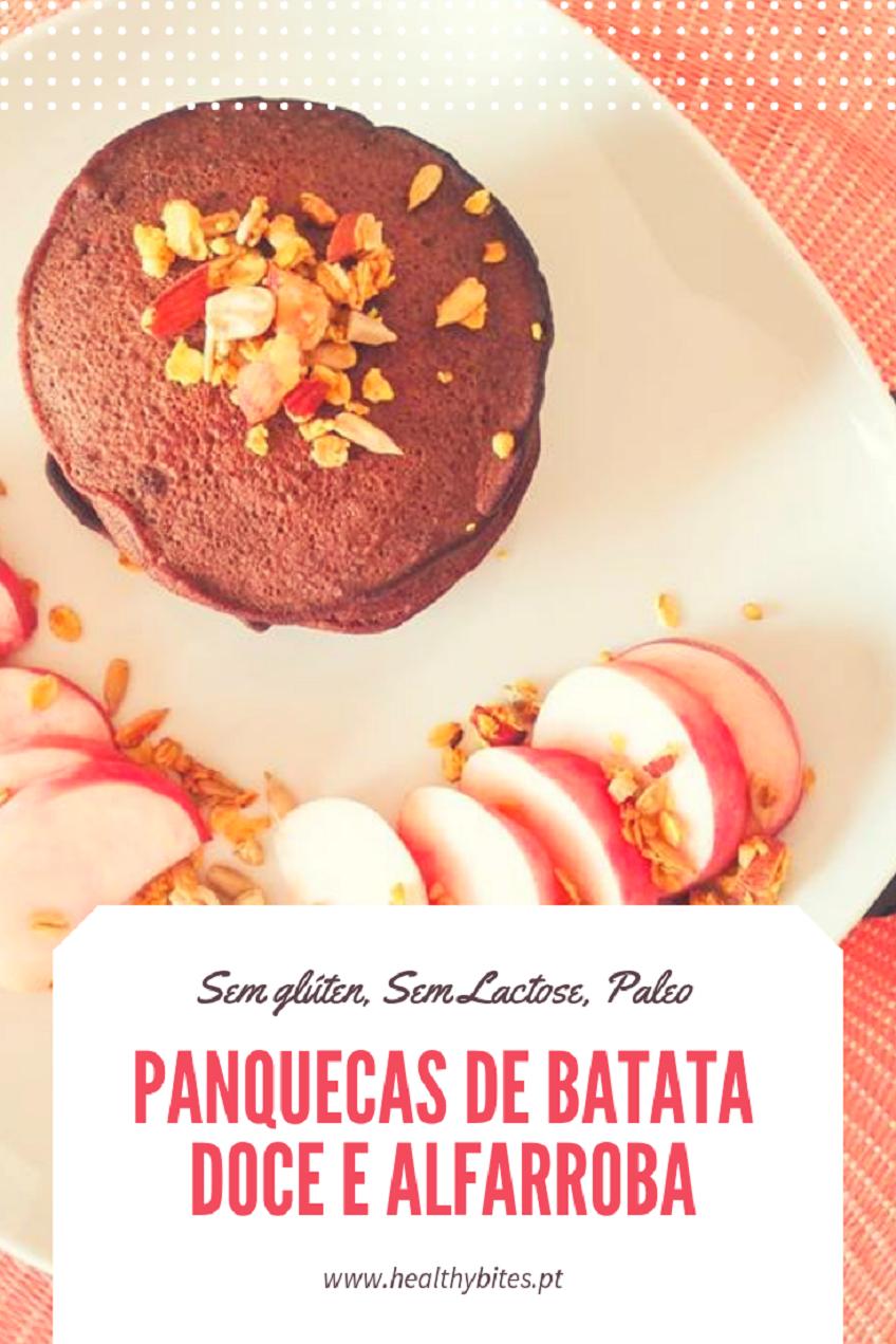 Receita de Panquecas de Batata doce e Alfarroba
