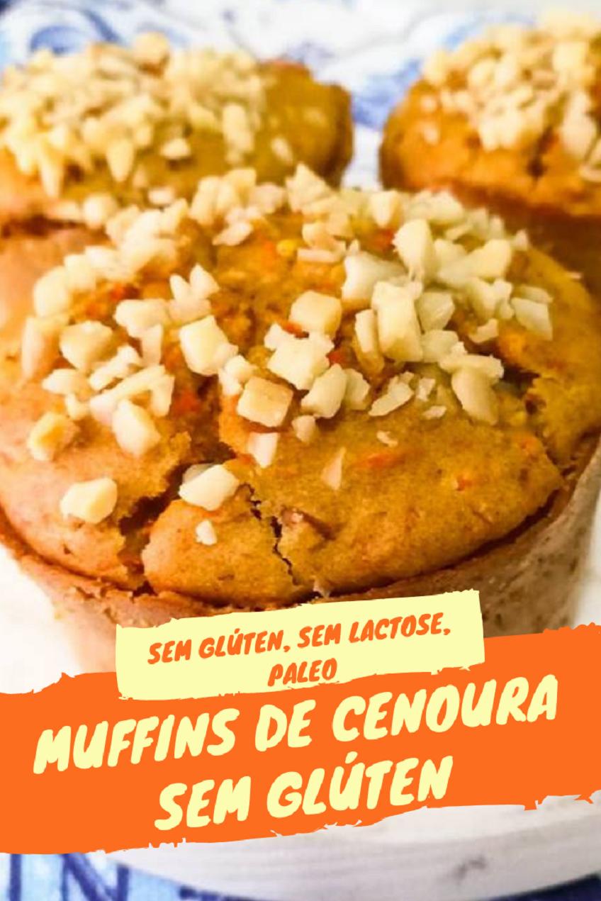 Receita de Muffins de Cenoura Sem glúten