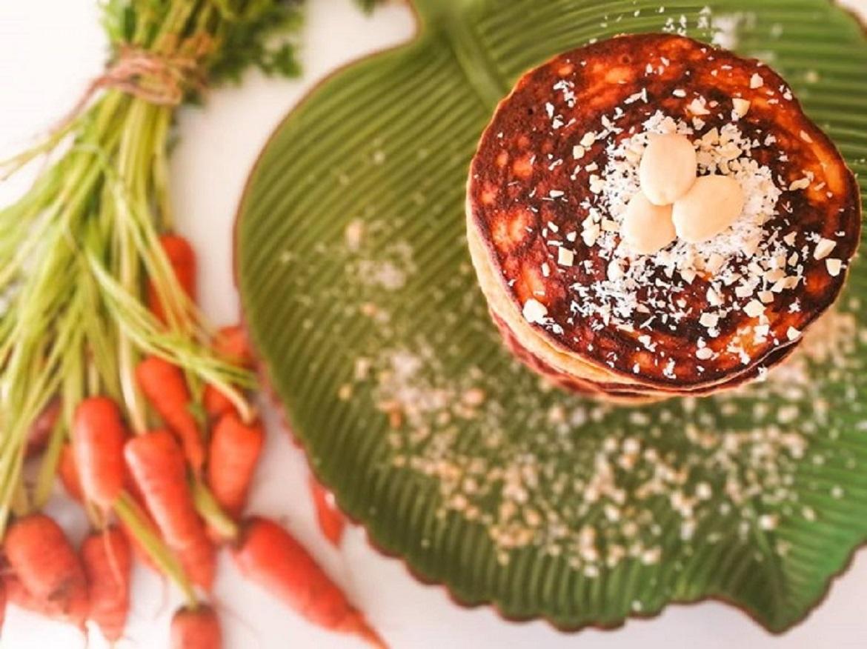 Receita de Panquecas sem glúten de Cenoura e Coco