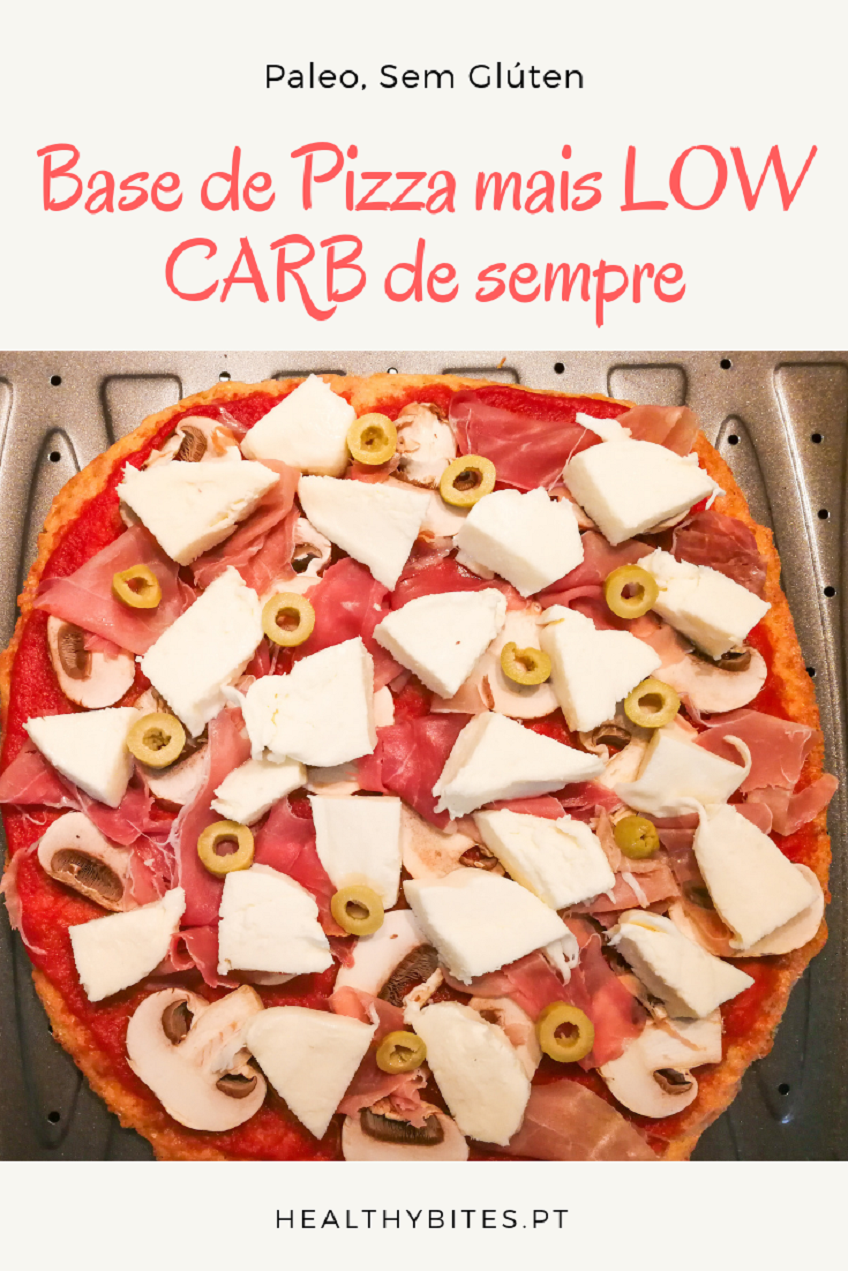 Receita de Base de Pizza mais LOW CARB de sempre
