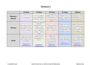 Ebook 52 Ementas Semanais Paleo