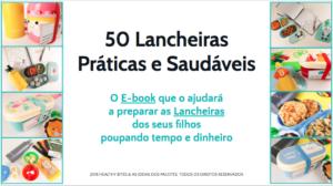 E-book 50 lancheiras práticas e saudáveis