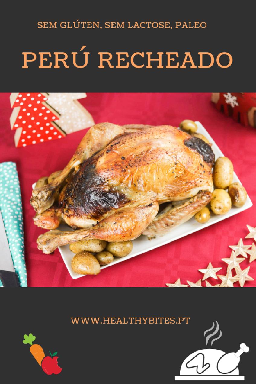 Receita de Perú Recheado de Natal