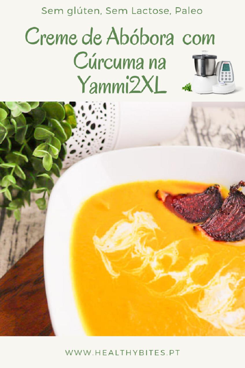 Receita de Creme de Abóbora com Curcuma e Coco na Yammi2 XL