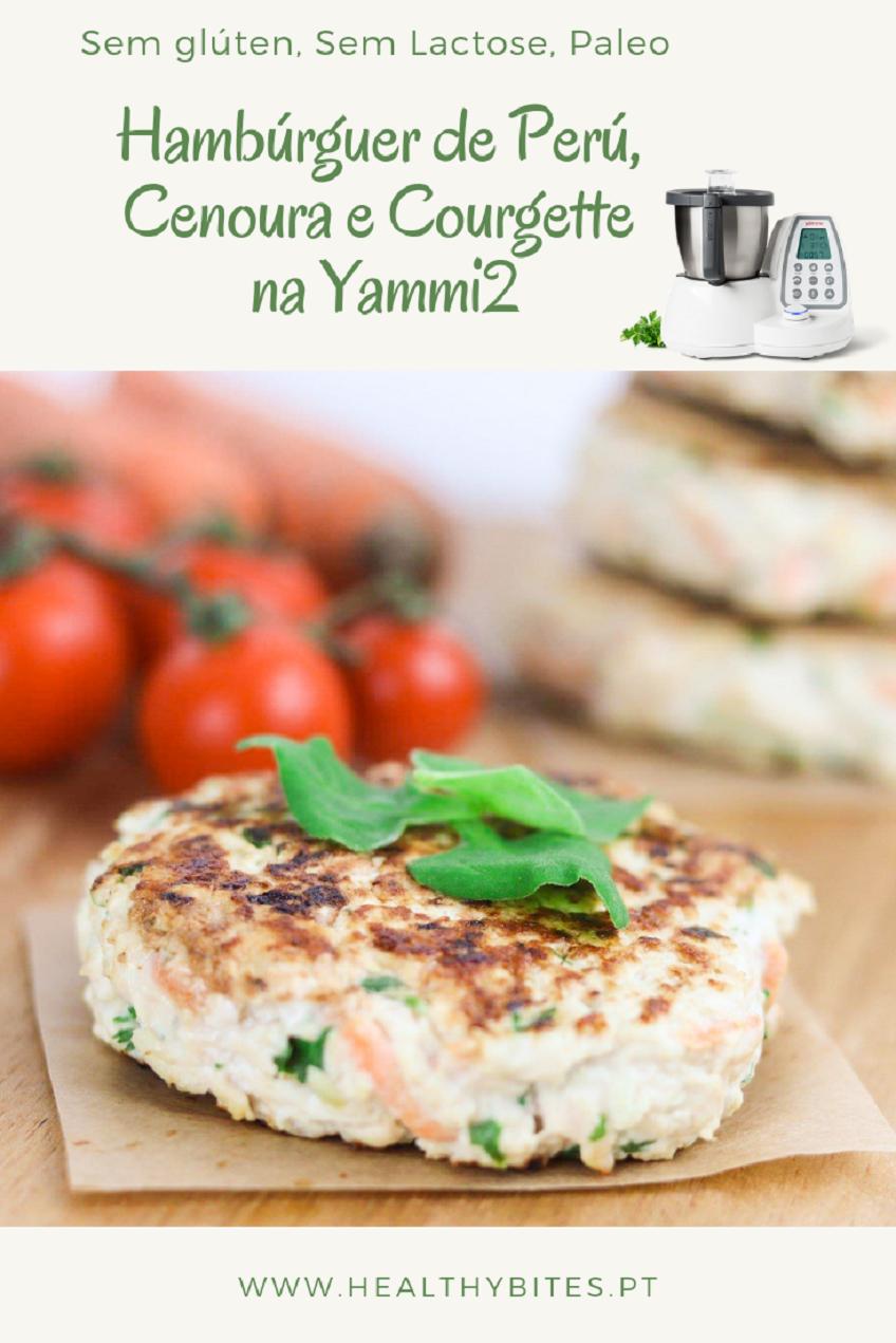 Receita de Hambúrguer de Frango Cenoura e Courgette na Yammi2