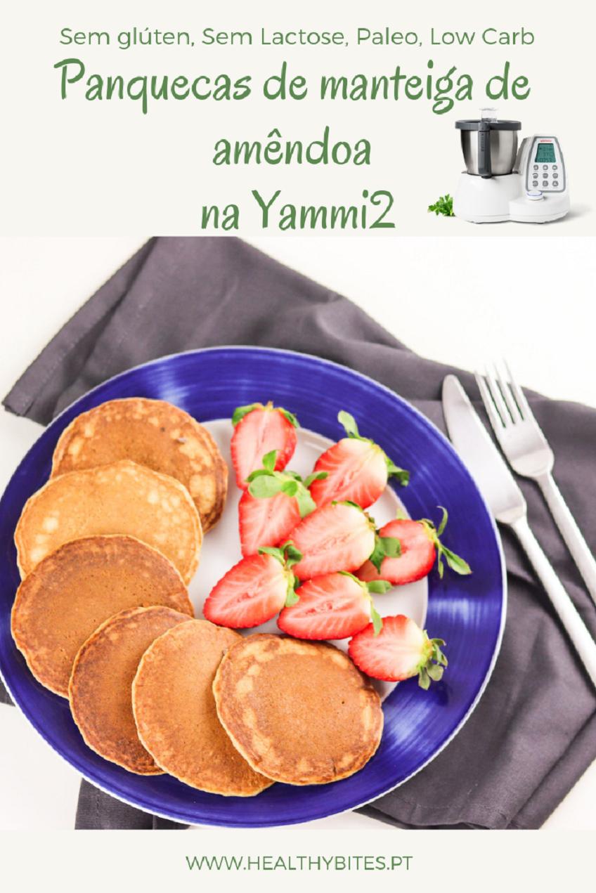 Receita de Panquecas de Manteiga de amêndoa na Yammi2