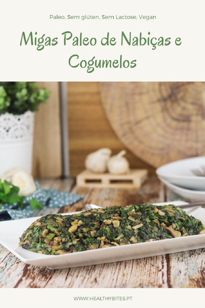 Receita de Migas Paleo de Nabiças e Cogumelos