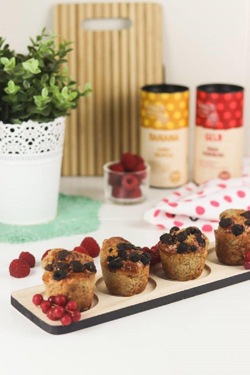 Receita de Muffins de Banana e Goji na PHILIPS Airfryer XXL