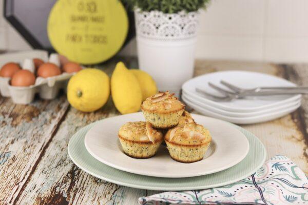 Receita de Muffins de Limão e Coco