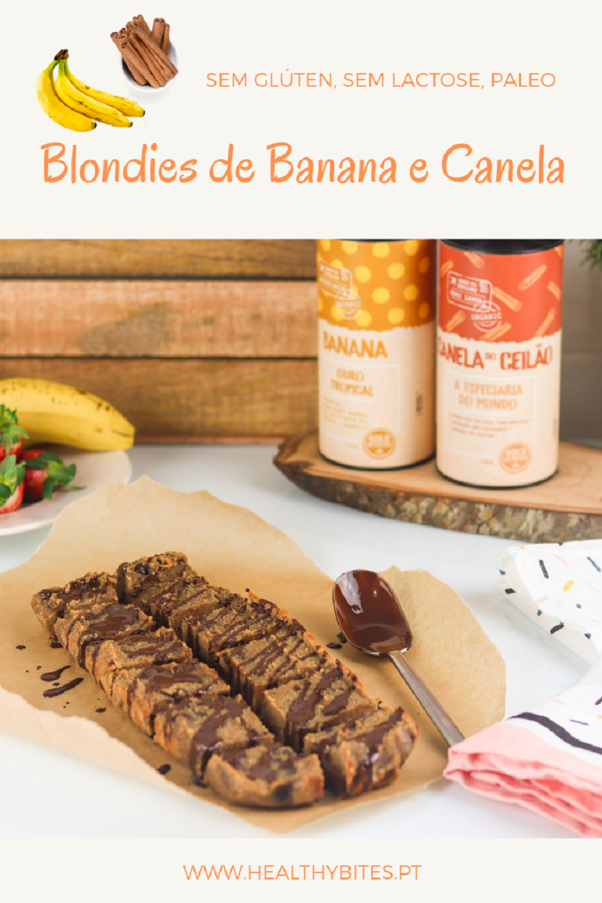Receita de Blondies de Banana e Canela