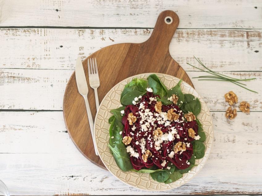 Receita de Salada de Beterraba e Espinafres