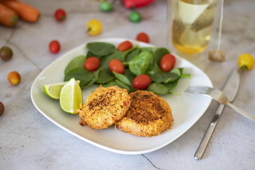 Receita de Hambúrguer de Cenoura e Tomate