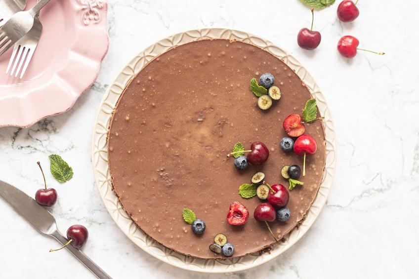 Receita de Tarte Vegan de Chocolate e Coco