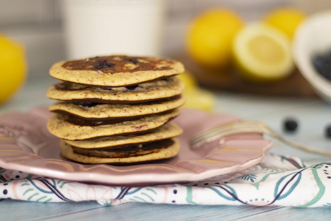 Receita de Panquecas de Limão e mirtilos