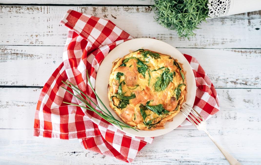 Receita de Omelete de Salmão e Espinafres na Philips Airfryer XXL