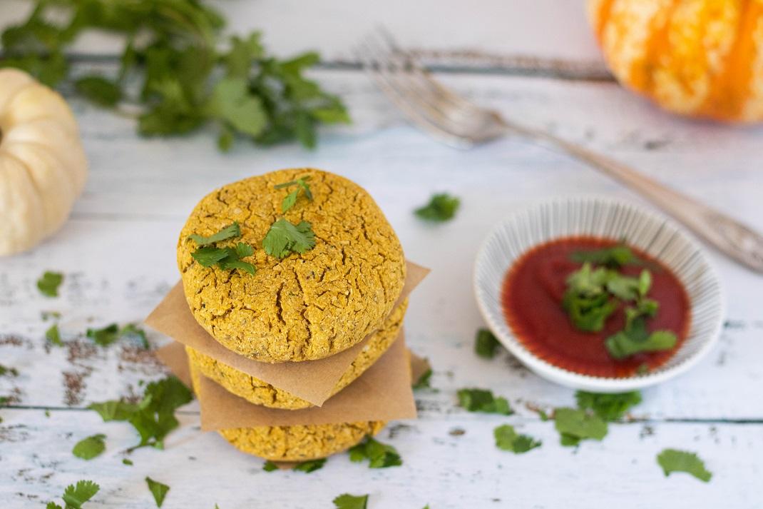 Hambúrguer Vegan de Grão e Abóbora
