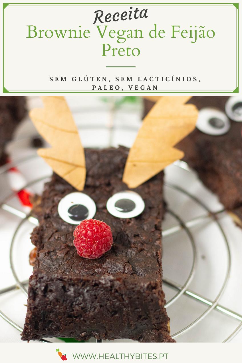 Brownie sem glúten de Feijão Preto
