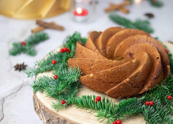 Bundt Cake de Natal sem glúten