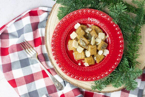 Gnocchi de Batata doce com Salva