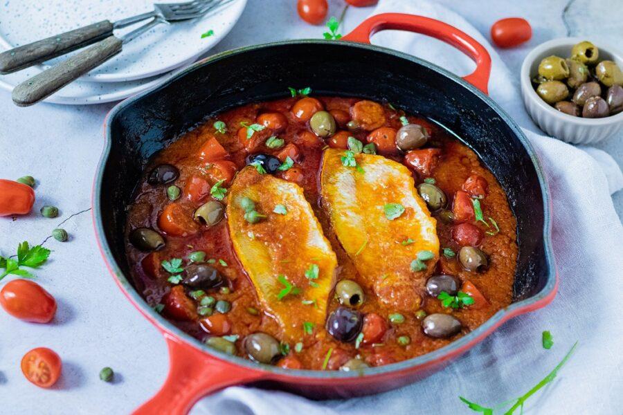 Filetes de Red Fish à Puttanesca